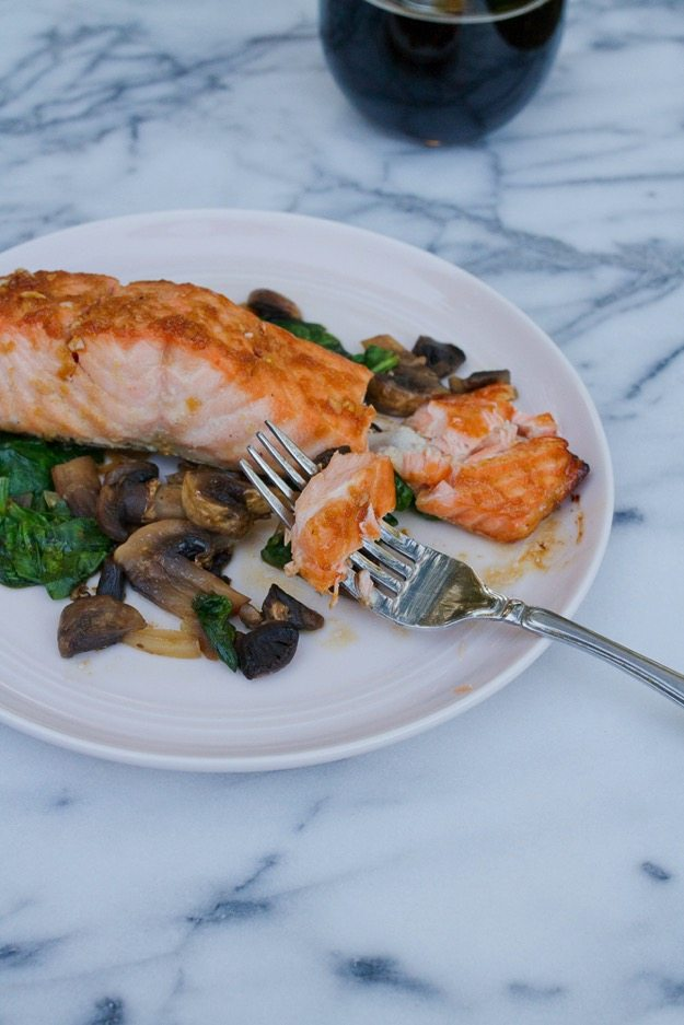 Healthy Maple Soy Broiled Salmon
