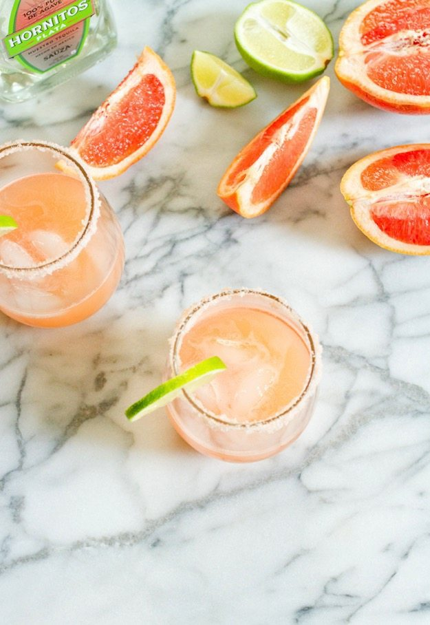 Skinny Paloma with fresh grapefruit juice, tequila and lime