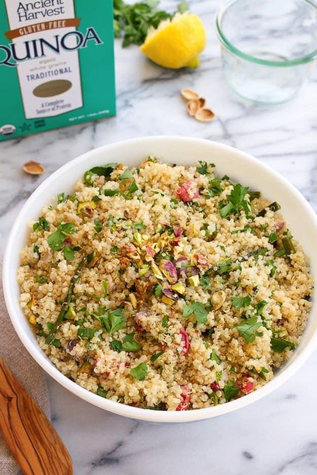 Spring Quinoa Salad #glutenfree #vegan