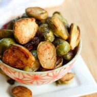 Date Sweetened Balsamic Glazed Brussels Sprouts