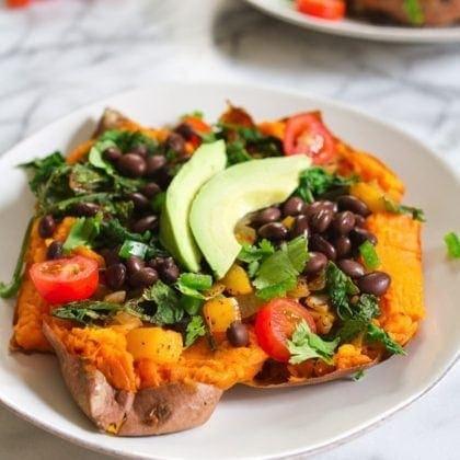 Mexicali Stuffed Sweet Potatoes