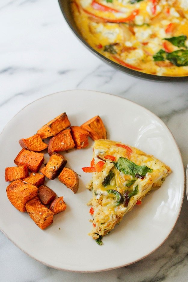 Caramelized Onion & Red Bell Pepper Frittata