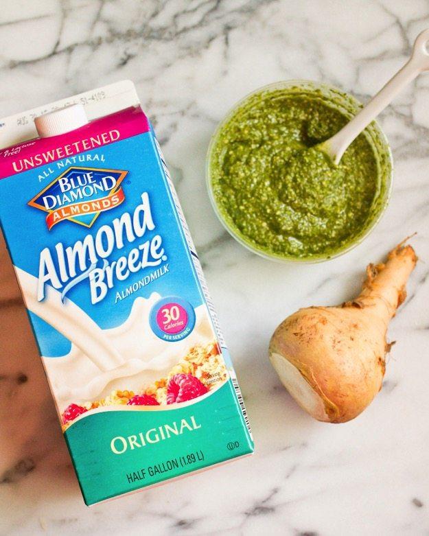 Creamy Pesto Rutabaga Pasta Ingredients