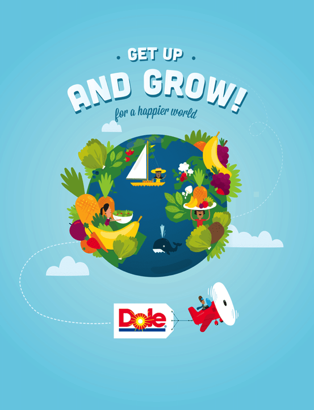 DOLE Get Up and Grow Logo