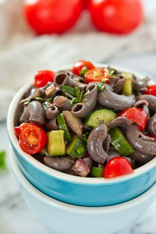 My Favorite Pasta Salad Recipe Made Healthy #glutenfree #vegan