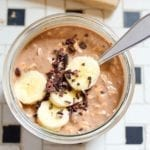 Overnight Oats with Banana and Cacao Nibs