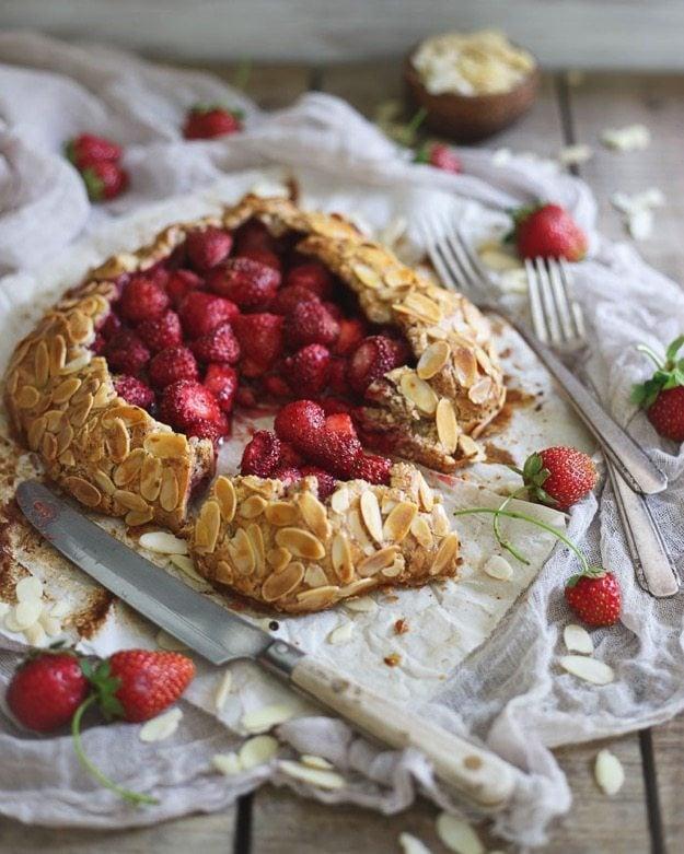 Paleo Strawberry Almond Galette