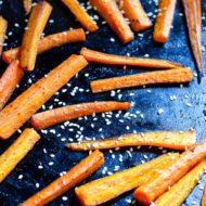 Sesame Roasted Carrots
