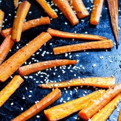 Sesame Roasted Carrots