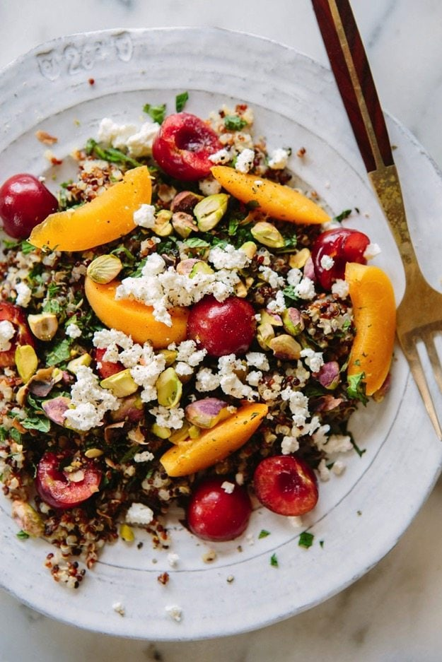 A house in the hills - Quinoa stone fruit salad