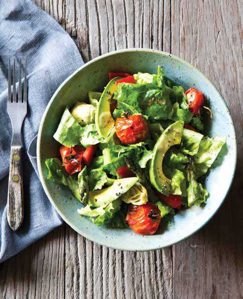 Roasted Vegetable Salad with Shallot Dressing