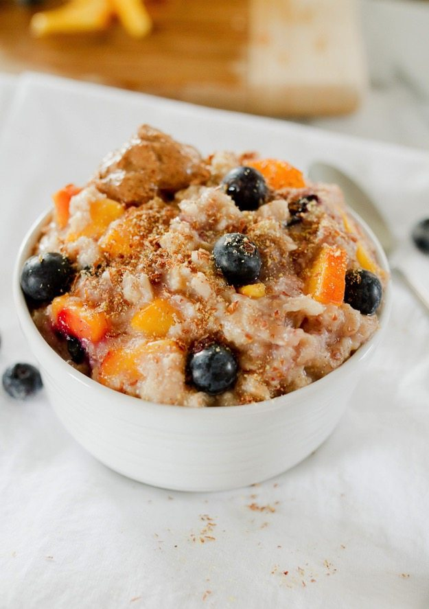 Blueberry Peach Oatmeal