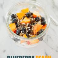 Blueberry Peach Greek Yogurt Bowl