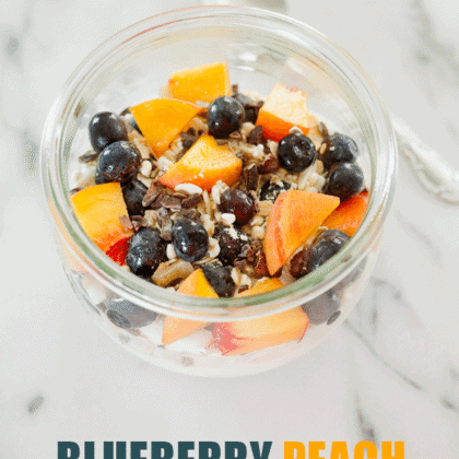 Blueberry Peach Greek Yogurt Bowl
