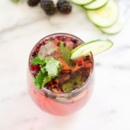 Blackberry Cucumber Skinny Mojito