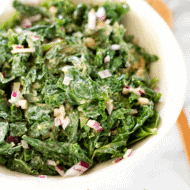 Kale Salad with Spicy Peanut Dressing