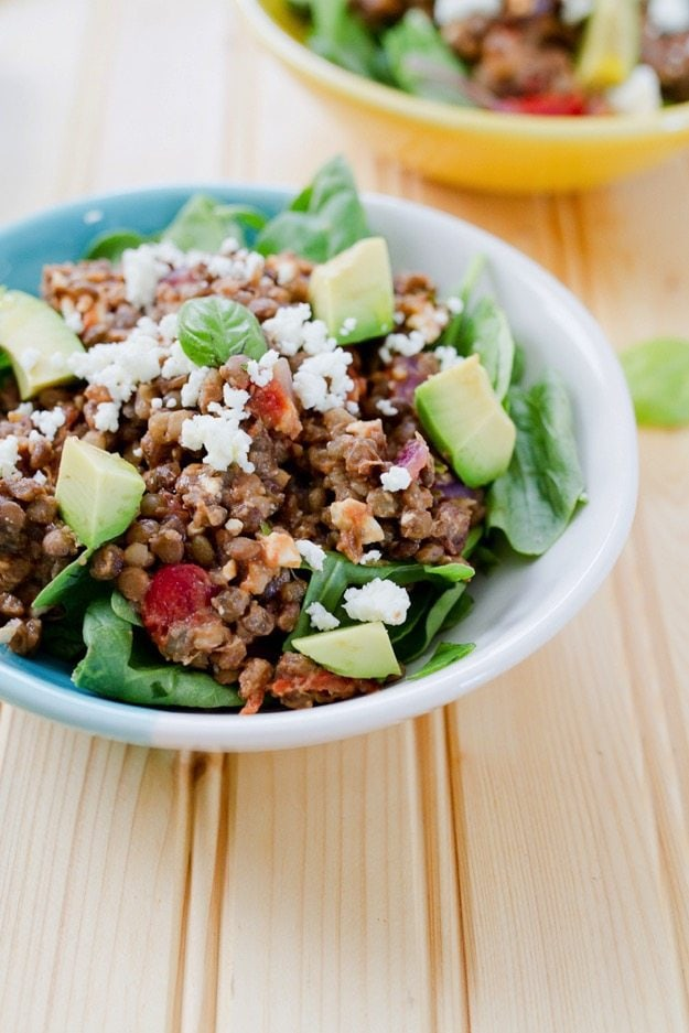 Sautéed Mediterranean Lentil Salad