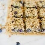 Blueberry Hemp Crumble Bars