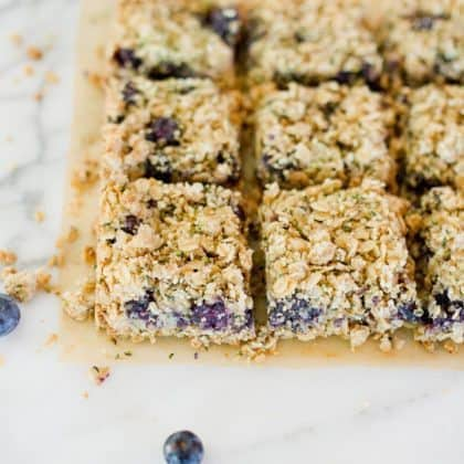 Blueberry Hemp Crumble Bars + Giveaway