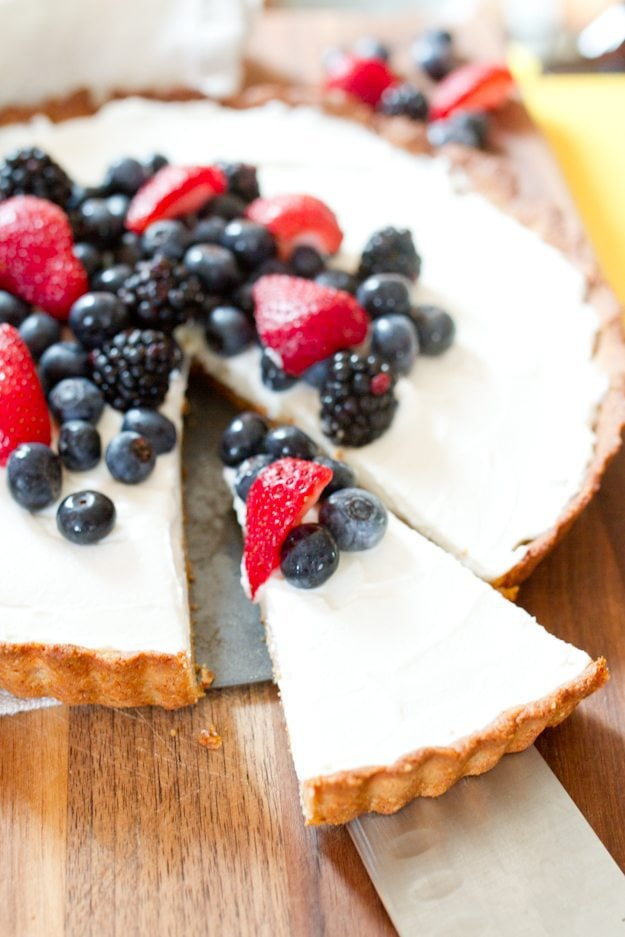 The BEST healthy summertime dessert! This tart starts with a ...