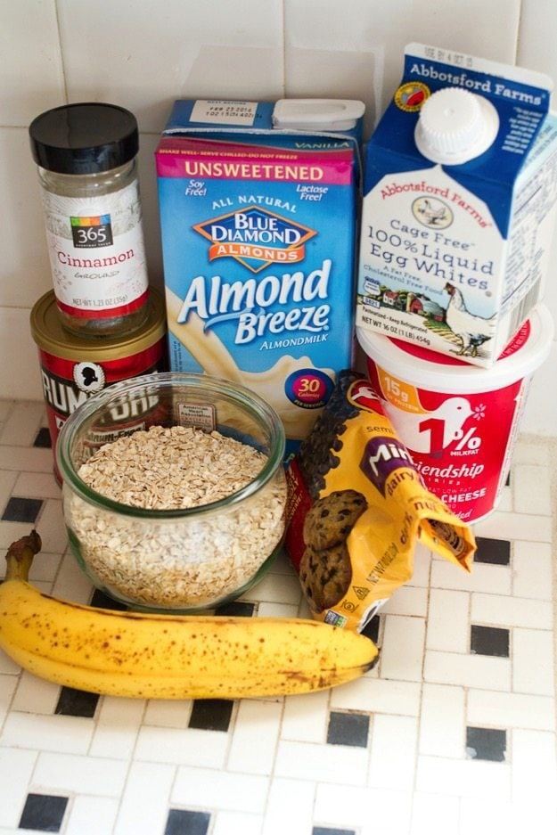 Ingredients for Bannaa Cottage Cheese Pancakes