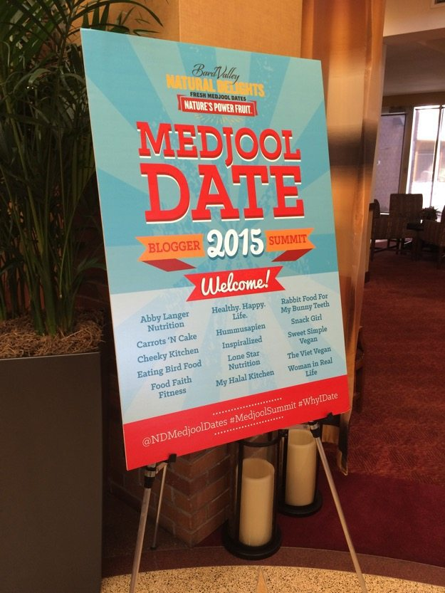 Poster for medjool date 2015 blogger summit!