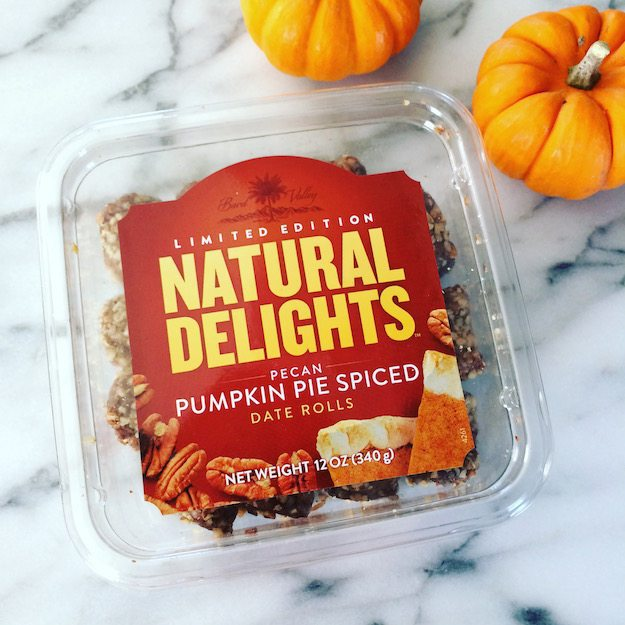 Natural Delights Pecan Pumpkin Pie Spiced Date Rolls