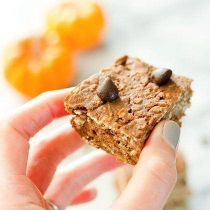 Pumpkin Protein Bars (Vegan + Gluten Free)