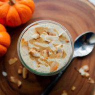 Pumpkin Chia Pudding with Coconut