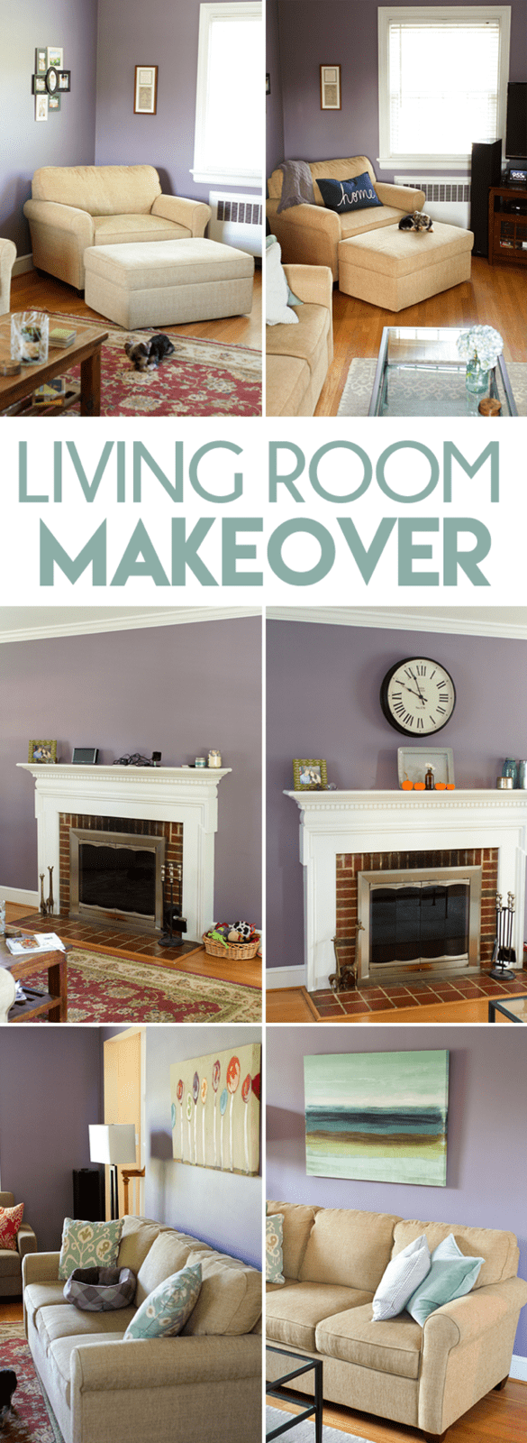 Living Room Makeover Before and Afters