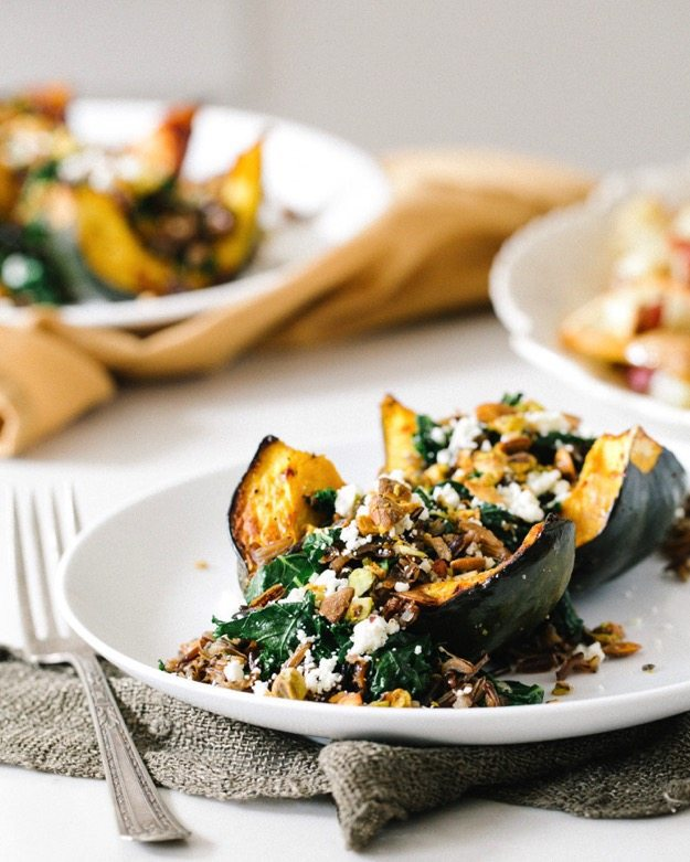 Acorn Squash with Wild Rice Stuffing 003