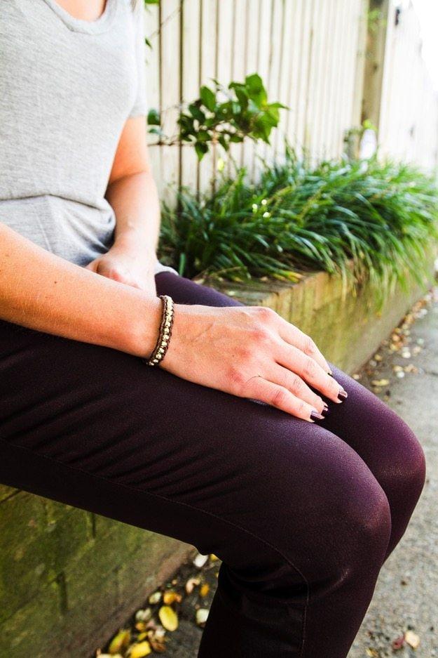 Fall Stitch Fix Beaded cord bracelet