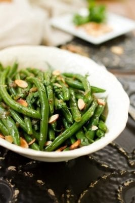 Green Beans With Caramelized Shallots And Almonds