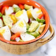 Hard Boiled Egg and Avocado Bowl