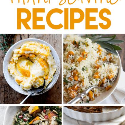 Healthy Thanksgiving Recipes (gluten-free + vegetarian)
