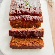 Lentil Loaf with a Maple Sweetened Glaze