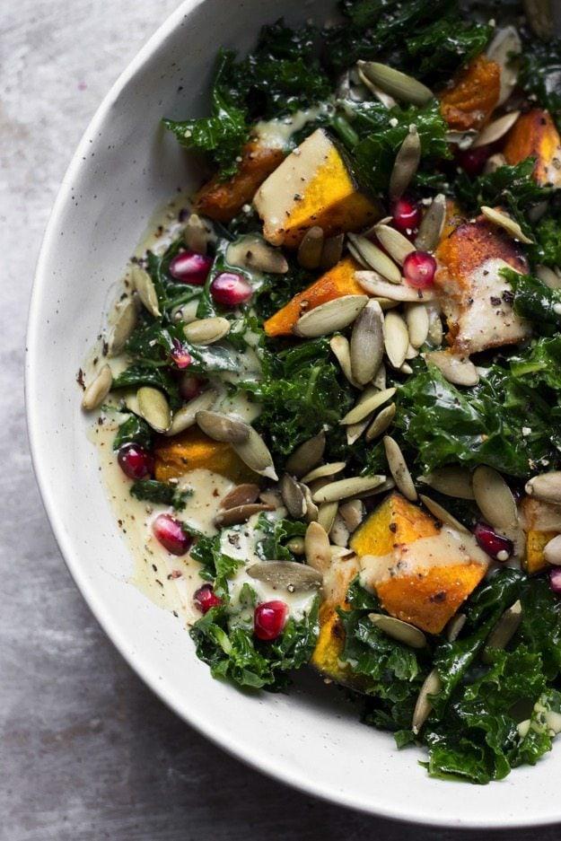 Kale salad with kobocha 2