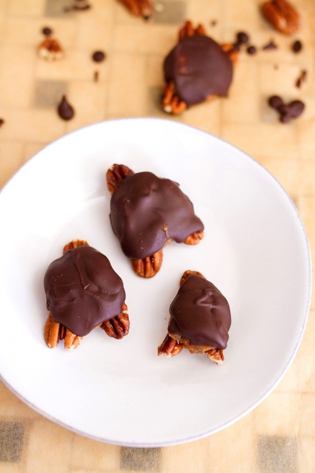 These homemade turtles are made with three simple ingredients yet still amazingly decadent and taste just as good, if not better, than the store-bought candies. They're also better for you!