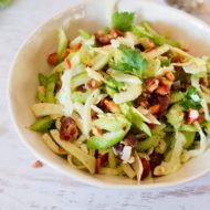 Fennel and Celery Salad with Dates and Shaved Parmesan
