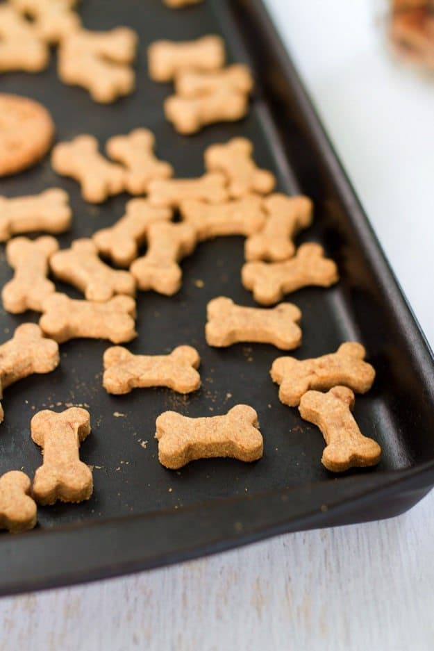 Making homemade snacks for your four-legged friend is a breeze with this simple peanut butter dog treats recipe. Pups will love the peanut butter flavor!