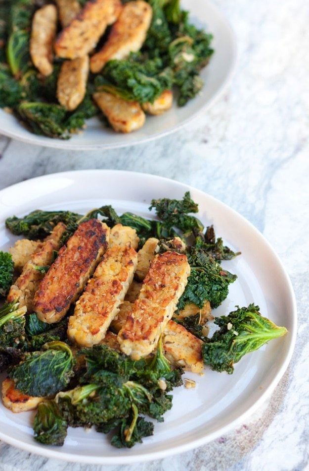 Lemon Garlic Tempeh