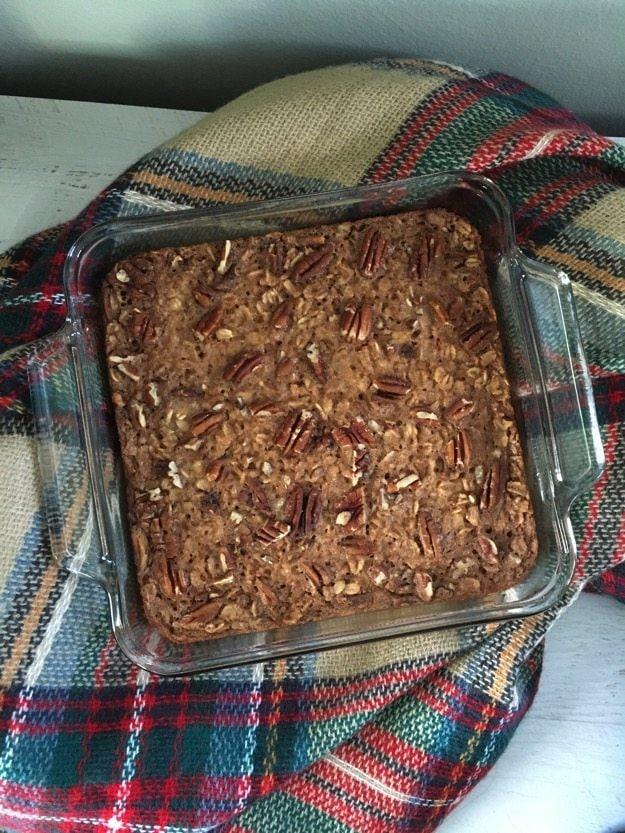 Maple Peacan Oatmeal Bake