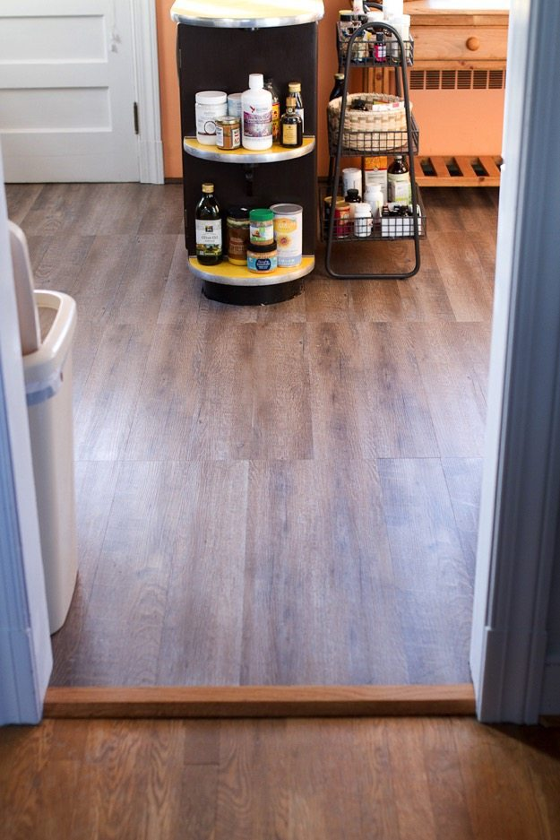 Rustic Wood Floors with Peel and Stick Vinyl Tile