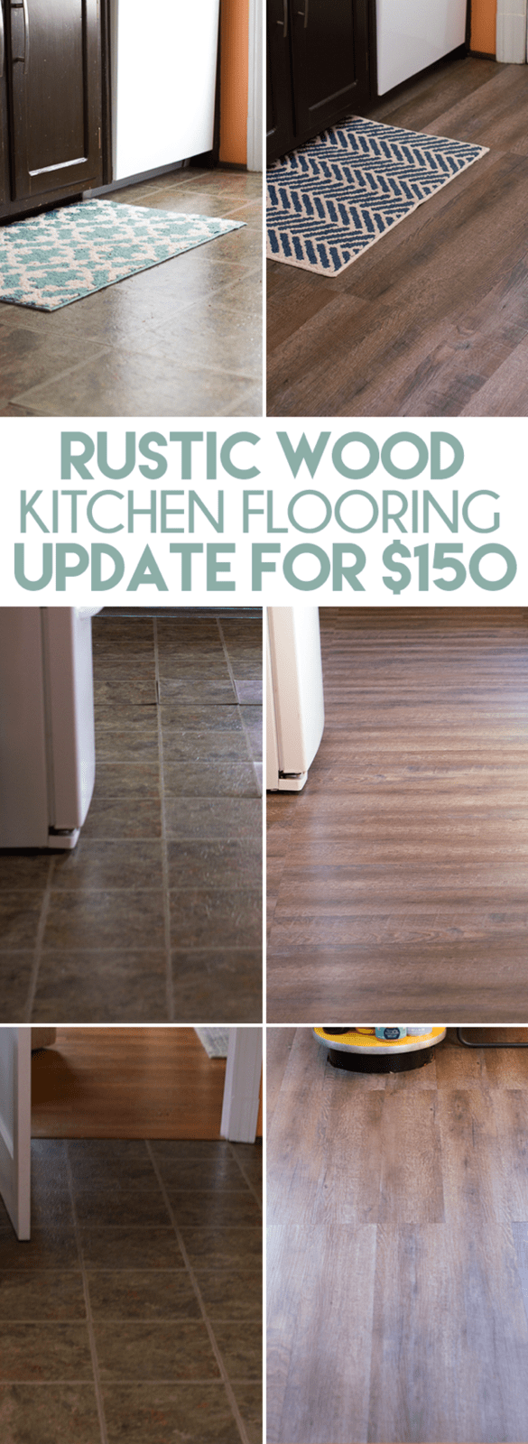 inexpensive rustic wood kitchen floors