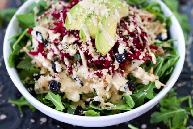 Shredded Beet and Pear Salad