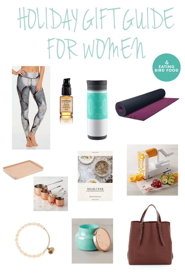 Holiday Gift Guide for Women from Eating Bird Food