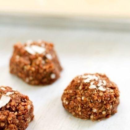 No Bake Coconut Quinoa Cookies