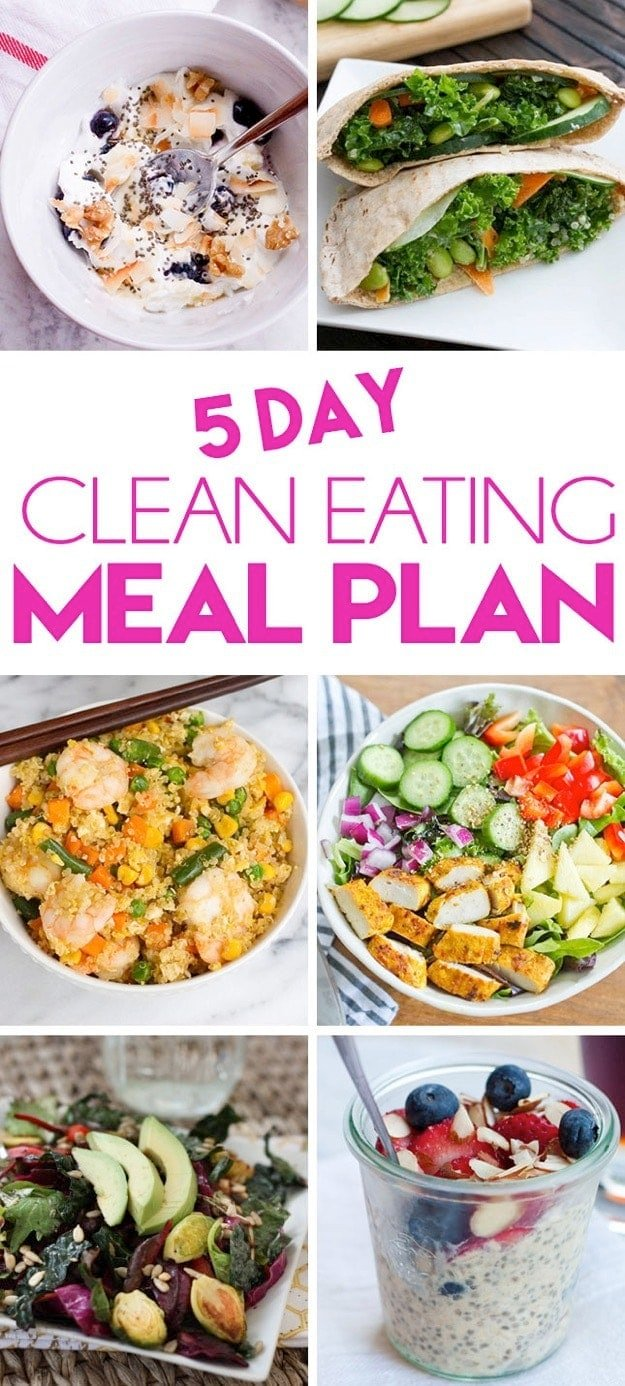 breakfast lunch and dinner meal plan for a week