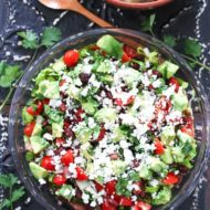 Healthy Mexican Layer Dip
