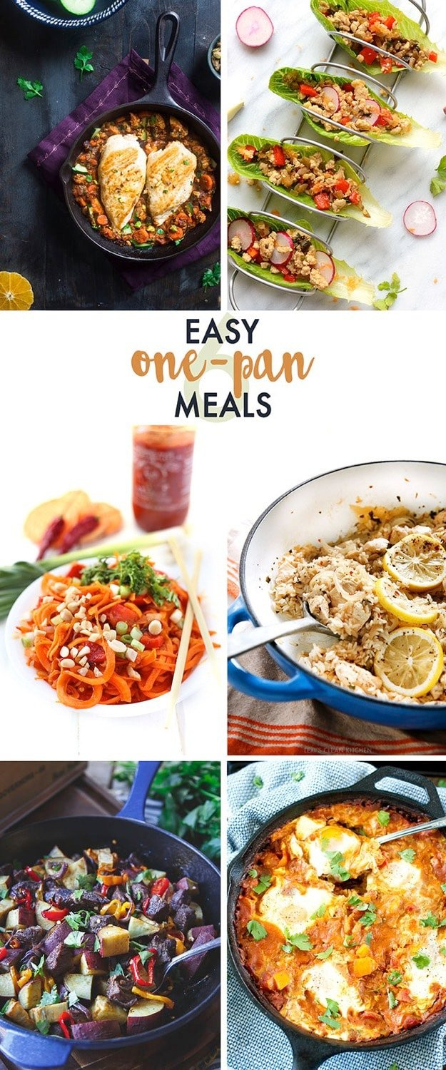 6 EASY + HEALTHY ONE PAN MEALS